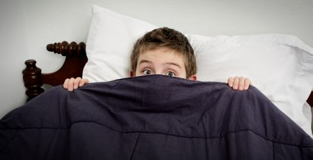 Sheaff Brock | Market Volatility's Fear Factor with Boy Hiding in Bed